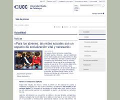 «Para los jóvenes, las redes sociales son un espacio de socialización vital y necesario» | UOC