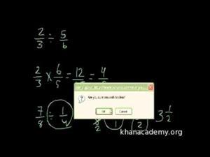 Dividir Fracciones (Khan Academy Español)