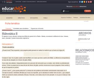 Hidrostática II (Educarchile)