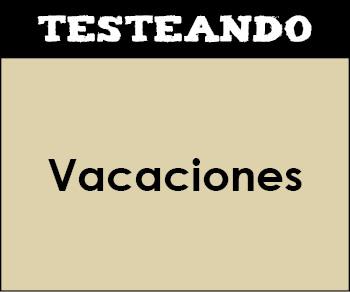 Vacaciones. 1º Primaria - Inglés (Testeando)