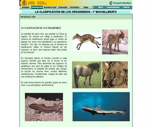 Clasificación de los organismos: unidad de Biología y Geología de 1º de Bachillerato