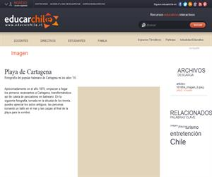 Playa de Cartagena (Educarchile)