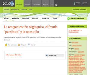"""La reorganización oligárquica, el fraude """"patriótico"""" y la oposición"""