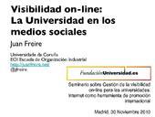 Visibilidad on-line: La Universidad en los Medios Sociales