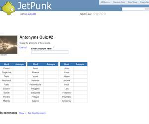 Antonyms Quiz 2
