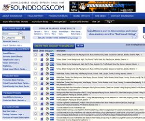 Soundogs.com, miles de efectos de audio