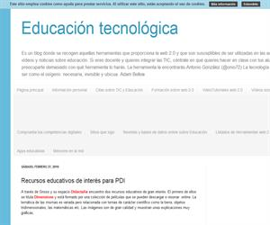 Referencia a Didactalia.net en el blog Educación Tecnológica