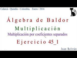 Multiplicación de polinomios por coeficientes separados