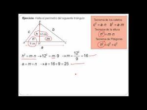 Problemas con los Teoremas de los Catetos y la Altura