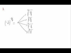 Potencias y exponente fraccionario y negativo - Cuestión 3