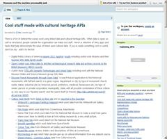 Cool stuff made with cultural heritage APIs and linked data