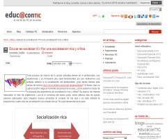 Educar es socializar (II): Por una socialización rica y crítica | EducaconTIC