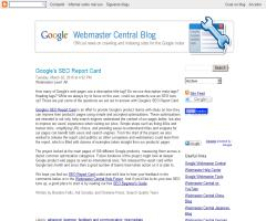 Análisis SEO de Google sobre Google: Google's SEO Report Card. Official Google Webmaster Central Blog