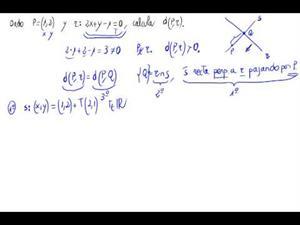 Distancia de punto a recta (Sin fórmula)