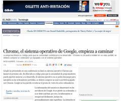 Chrome, el sistema operativo de Google, empieza a caminar · ELPAÍS.com
