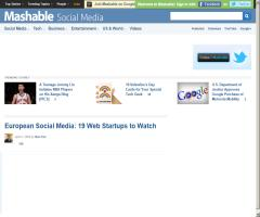 European Social Media: 19 Web Startups to Watch