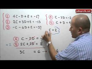 Circunferencia que pasa por tres puntos dados (JulioProfe)