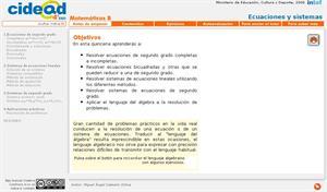 Ecuaciones y sistemas (cidead)