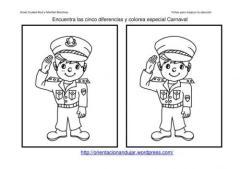 Fichas de atención carnaval; Encuentra las diferencias