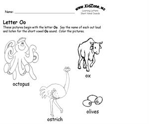 Activity sheet ? Oo sound (Educarchile)