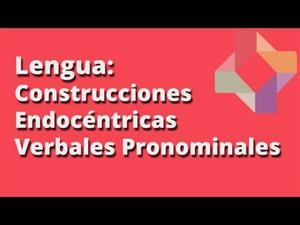 Construcciones endocéntricas verbales pronominales