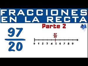 Ubicar en la recta fracciones con números grandes| Parte 2