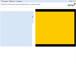 Producte i divisió d'una mesura de longitud per un nombre natural (Proyecto Agrega)
