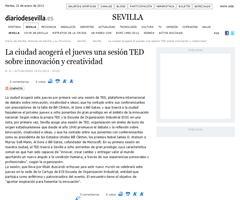 Sevilla acogerá el jueves una sesión TED sobre innovación y creatividad
