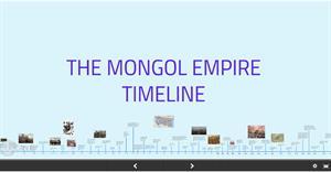 The Mongol Empire Timeline. Línea del tiempo del imperio mongol (Prezi)