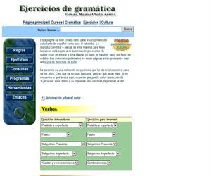 Ejercicios de gramática española para Primaria y extranjeros que aprenden español