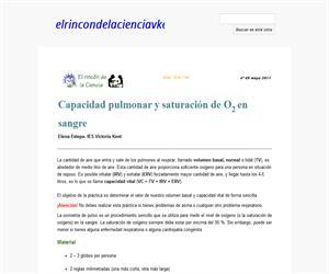 Capacidad pulmonar y saturación de O2 en sangre