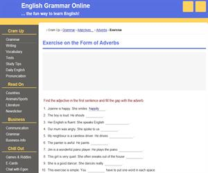 Exercise on the Form of Adverbs (ego4u)