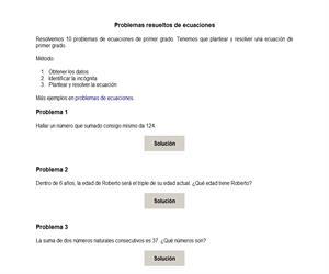 Problemas resueltos de ecuaciones de primer grado