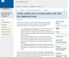 Three Linked Data Vocabularies are W3C Recommendations