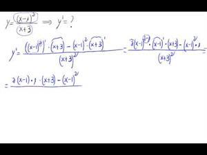 Derivada - Potencia de polinomio y cociente