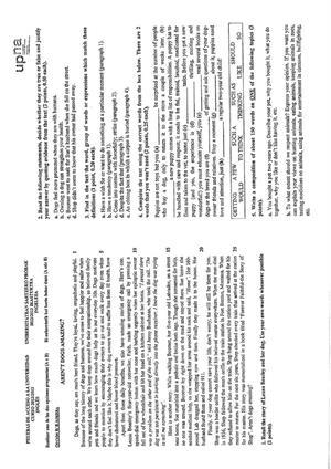 Examen de Selectividad: Inglés. Navarra. Convocatoria Julio 2013