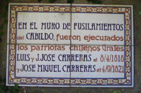 Independencia: Fusilamiento de los hemanos Carrera