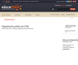 Organizacion política de Chile (Educarchile)