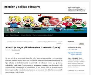 Aprendizaje Integral y Multidimensional. La escuela (1º parte)