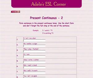 Present continuous (adelescorner)