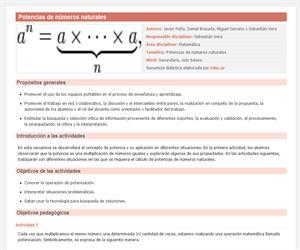 Potencias de números naturales