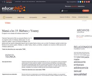 Mamá a los 15: Bárbara y Yoanny (Educarchile)