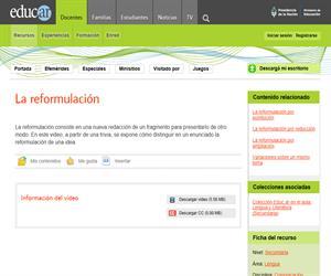 Reformulación