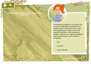 Laboratorio virtual transporte geológico. Biología y Geología para 3º ciclo de Primaria