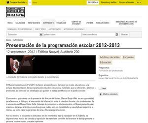 Museo Reina Sofía/Programas escolares