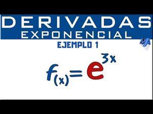 Derivada de la función exponencial | Ejemplo 1