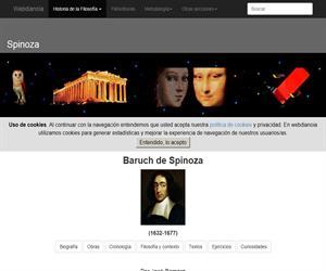 Spinoza: Biografía, Ideas Principales, Cronología, Filosofía y Contexto, Textos, Ejercicios, Curiosidades y Glosario (Webdianoia)