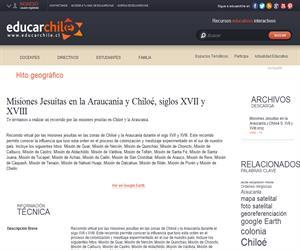 Misiones Jesuítas en la Araucanía y Chiloé, siglos XVII y XVIII (Educarchile)