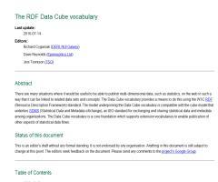 The RDF Data Cube vocabulary
