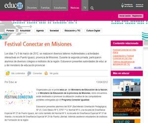 Festival Conectar en Misiones